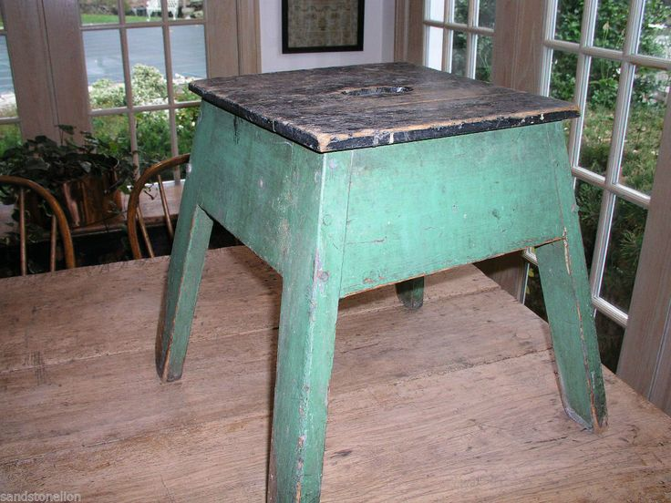 Milking Bench Part - 37: Antique Folk Art Stool Primitive Farm Milking Bench Original Paint AAFA |  EBay | Taburetes | Pinterest | Arte Folclórica, Arte E Folclórica