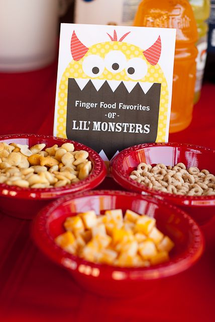 Nothings and Notions from my Noodle: Lil Monsters Birthday Party - PARTY DECORATIONS and FOOD