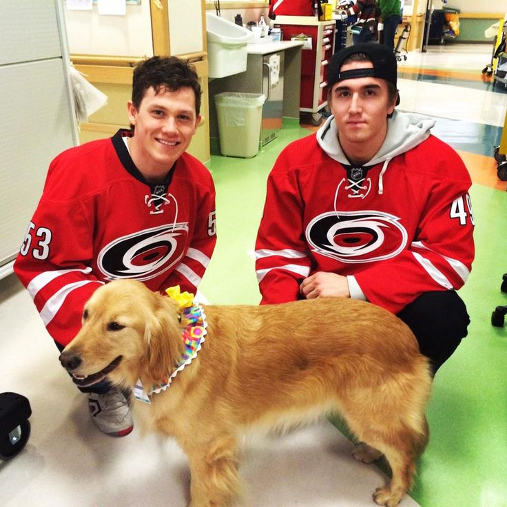 Carolina Hurricanes: Jeff Skinner and Victor Rask with Riley at Duke Children's Hospital