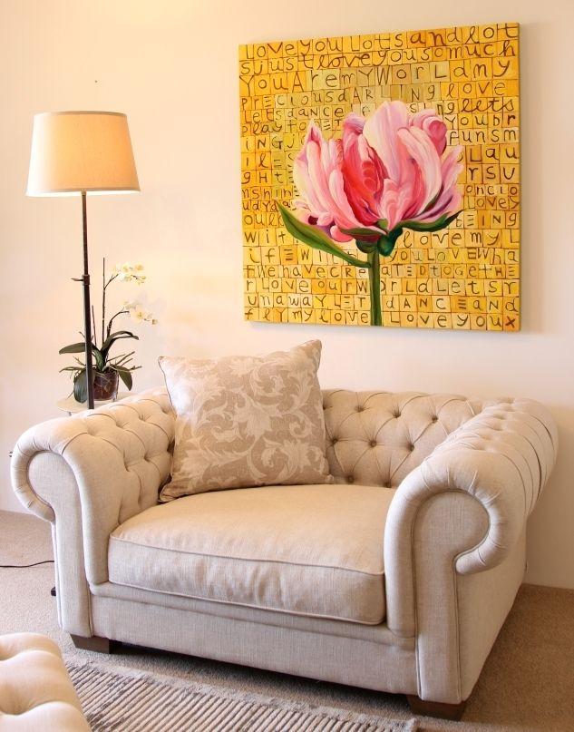 Linen love seat