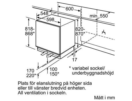 Produkter - Kyl & frys - Frysar - GUD15A55