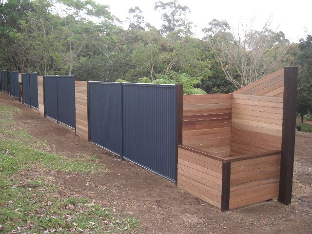 colorbond fencing ideas - Google Search
