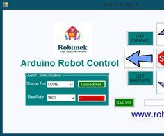 Arduino Robot Control console Program with the visual basic