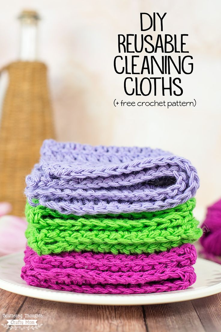 DIY Reusable Cleaning Cloths (+ Free Crochet Pattern)#ad #streakfreeshine