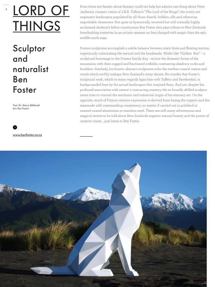 Ben Foster featured in Artology magazine