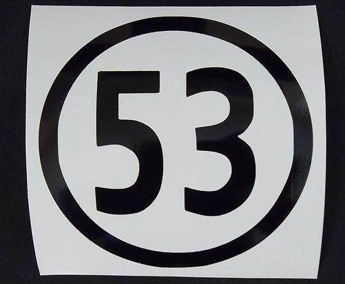 Volkswagon Herbie Sticker Vw V Dub 53 Logo Vinyl Graphic
