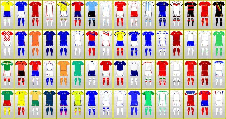 Uniformes da Copa do Mundo da FIFA: BRASIL 2014