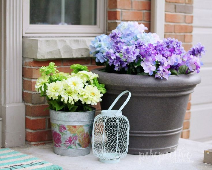 Flower Pots Outdoor Artificial Flowers, Artificial Flowers Outdoor Use