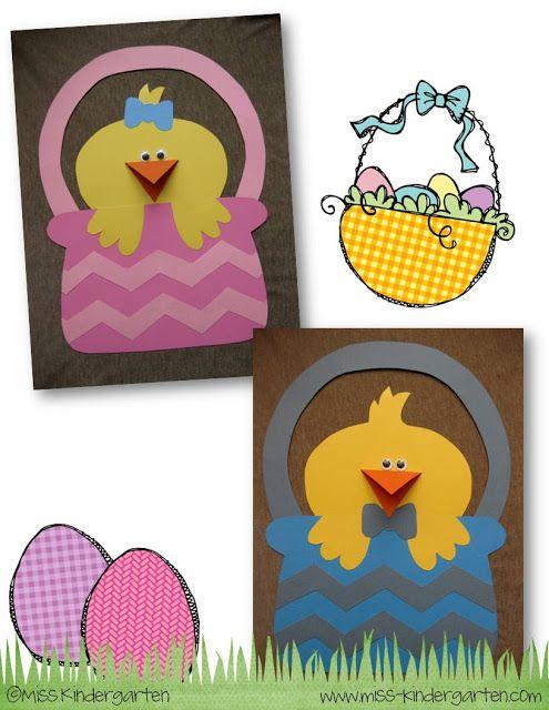 Peeps in a Basket - Miss Kindergarten