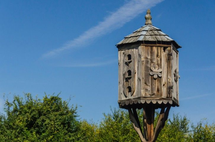 Wooden Pallet Bird House with a Shed Roof