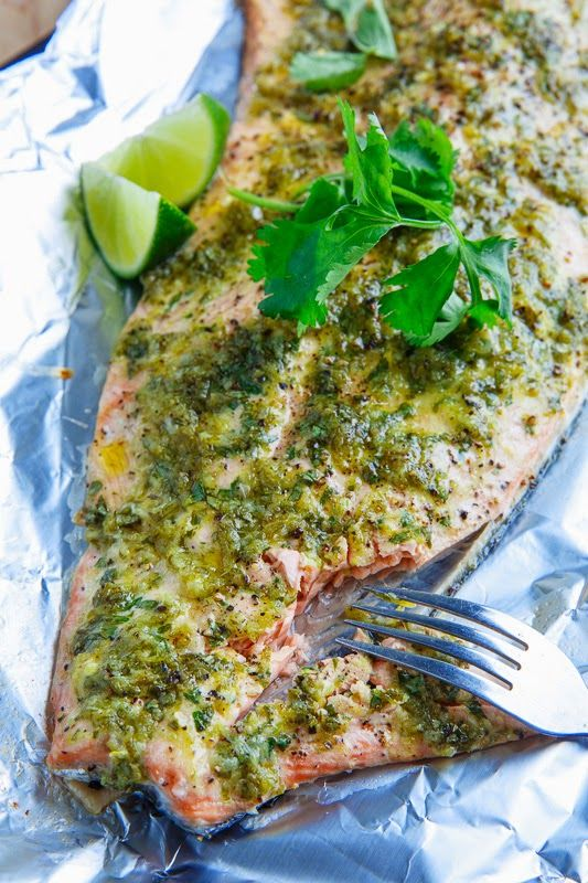 Cilantro and Lime Salmon by closetcooking #Salmon #Cilantro #Lime #Healthy