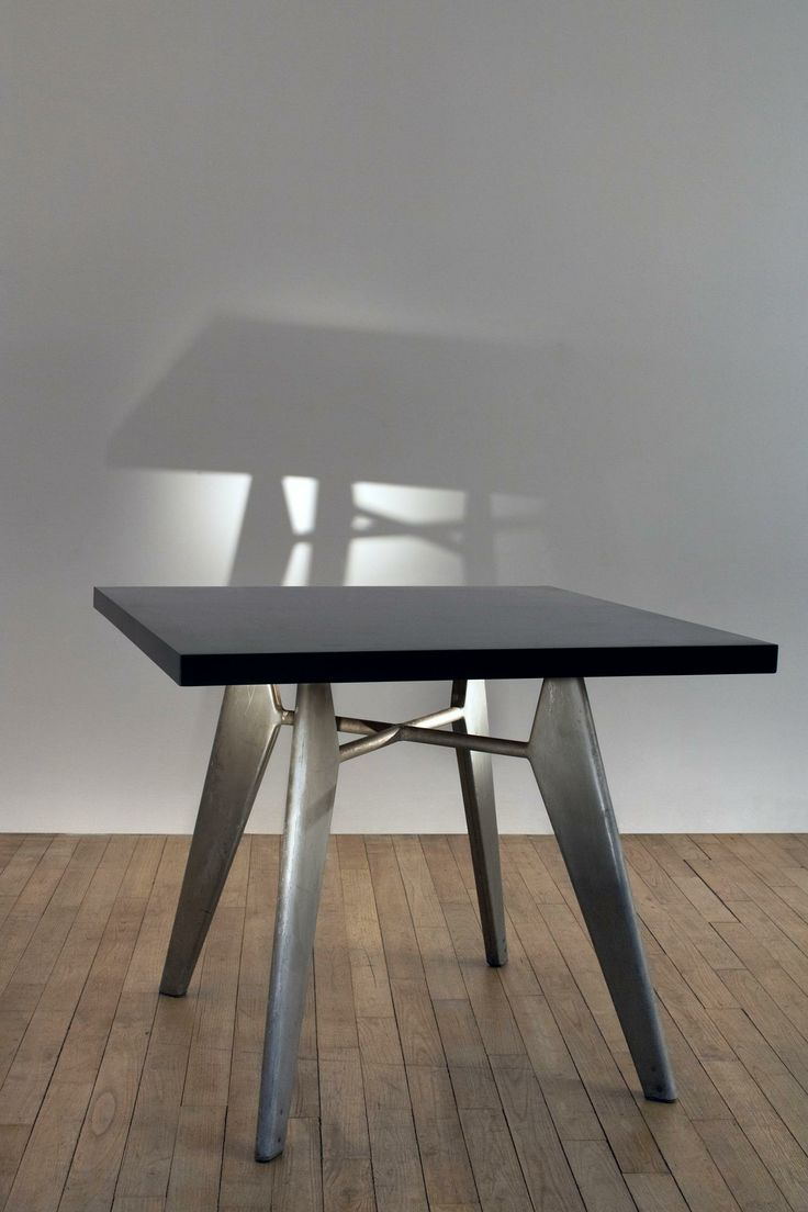 jean prouv aluminum and plywood occasional table c1955