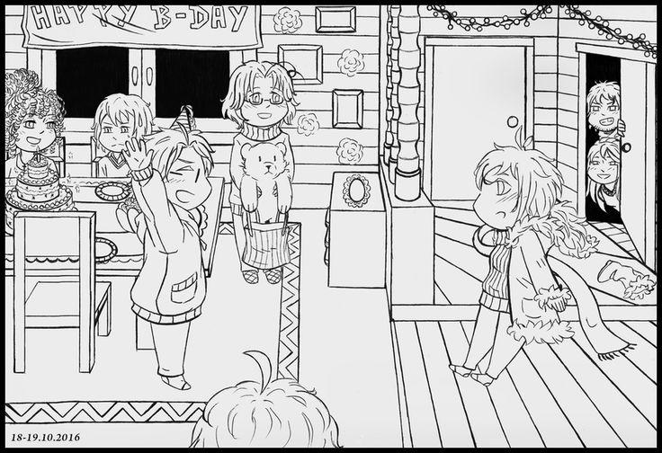 Inktober #18: Happy B-Day! by Kei2000