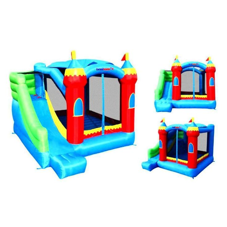 Bounce House w/ Inflatable Slide Kids Bouncer Outdoor Castle Sun Roof Commercial #bouncehouse #inflatableslide #kidsparties #outdoorfun