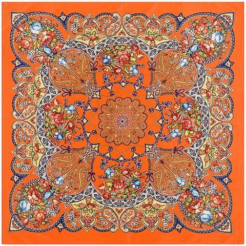 46cf6124a POBING 100% Silk Scarf Women Square Scarves Wraps 2017 Bohemia Geometric  Flowers Bandana Female Foulard Silk Hijab Lady Bufandas
