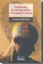 fundamentos de psicologia juridica e investigacion criminal-anastasio ovejero bernal-9788478002375