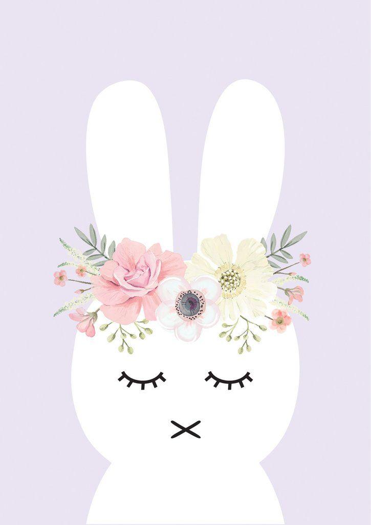 Flower Bunny Print