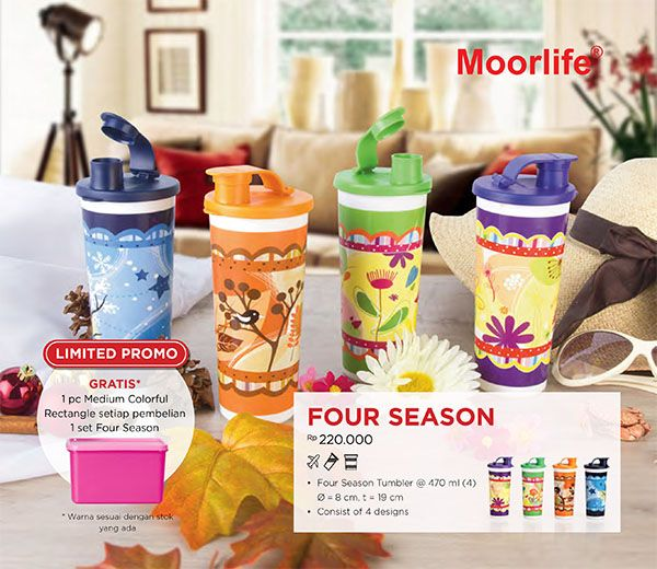Moorlife Four Season FREE 1 Medium Colorful Rectangle