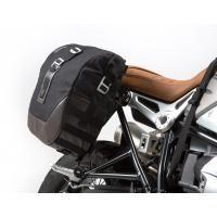 SW-MOTECH Legend Gear SLC Side Carrier & LC1/LC2 Side Bag Kit for BMW R nineT | LC1 9.8 Liter Left & LC2 13.5 Liter Right Saddlebags