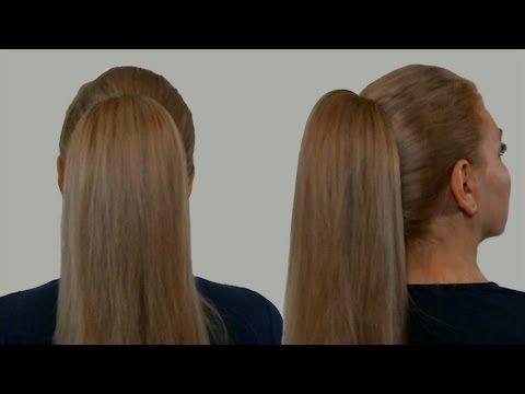 Лёгкая причёска самой себе на каждый день.Пучок из волос.Пучок с бубликом и хвостиком внутри - YouTube