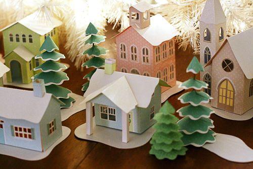 Swell Noel Paper Village kit from K