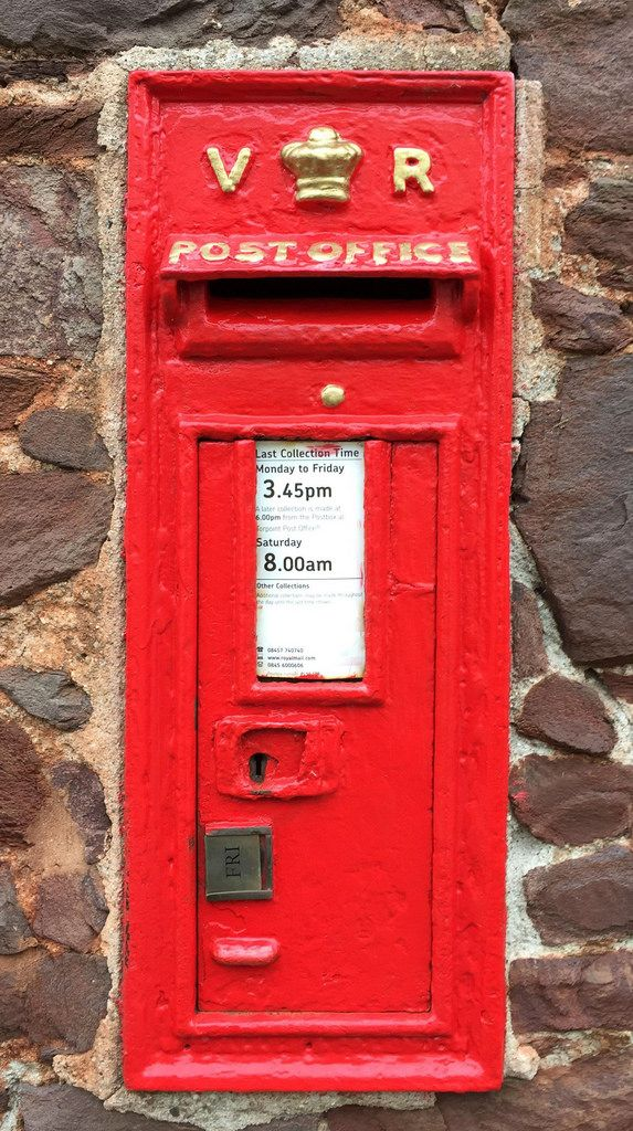 Beautiful Victorian post box in Green Lane, Kingsand, in the far south-east of Cornwall. The original colour for English  post boxes was green, and the first wall boxes, like this, were installed in mainly rural areas from 1857 onwards. The first boxes to be painted red were in London in July 1874, although it would be nearly 10 years before all the boxes had been repainted. In 2012 to celebrate Olympic gold medals for Team GB, selected boxes were painted gold.   Source: ...
