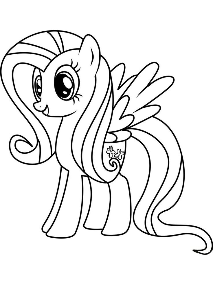 fluttershy coloring pages free. Fluttershy is one of the ...
