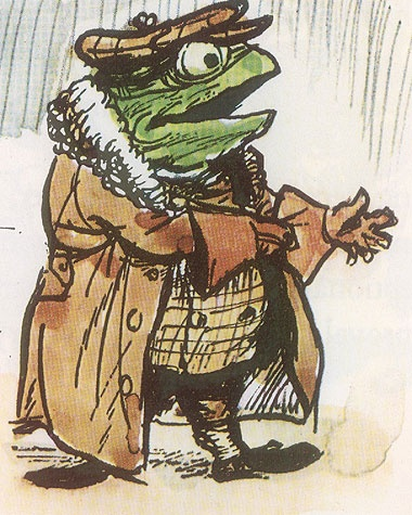Toad of Toad Hall: Wind, Illustration, Clever Toad, Willow