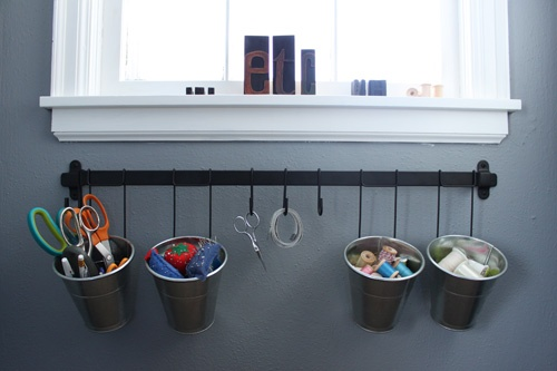 Organization Ikea Kroken Rail Hanging Hooks Amp Buckets Home Organization Pinterest