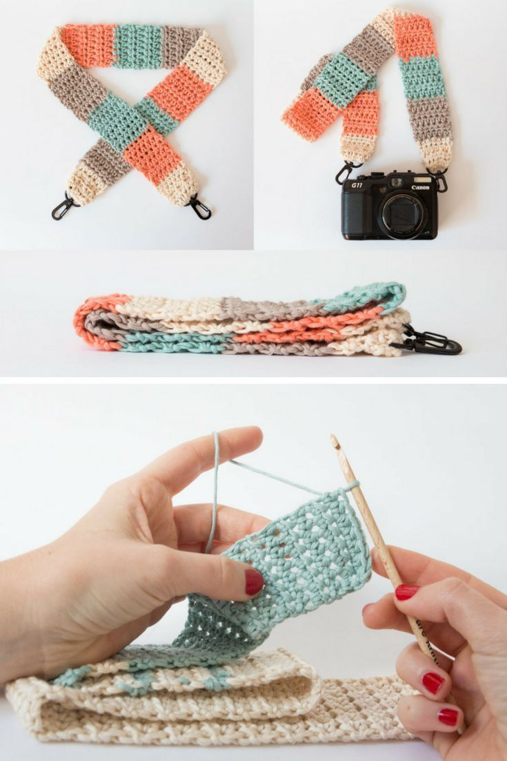 Learn to crochet a strap for your camera | i want to make this ...