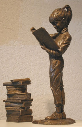 Bronze sculpture by Gary Price  http://sunnydaypublishing.com/books/
