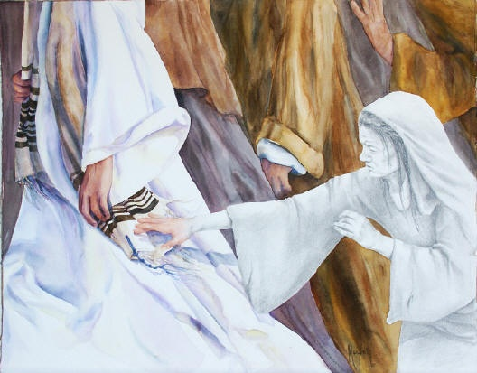 The healing of the woman with the issue of blood for Biola jesus mural