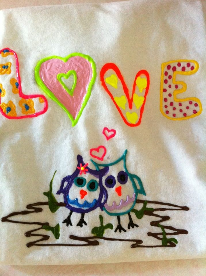 design your own puffy paint t shirt kids