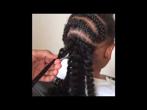 The 13yr old braider (Crochet and Bantu knots) - YouTube