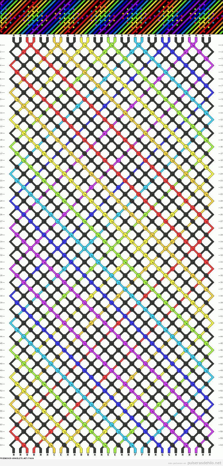 Patrón, esquema o diagrama con rayas y arco iris