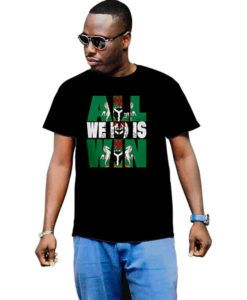 Men's All I Do Is Win Nigeria Flag Map T-Shirt