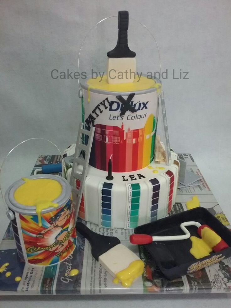 Painter and carpenters birthday cake