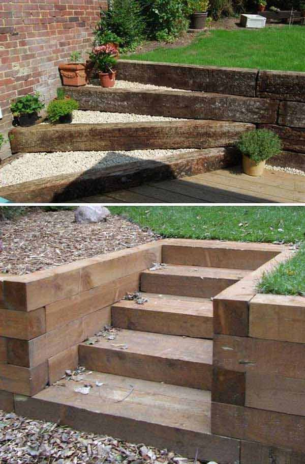 Superieur The Best 23 DIY Ideas To Make Garden Stairs And Steps