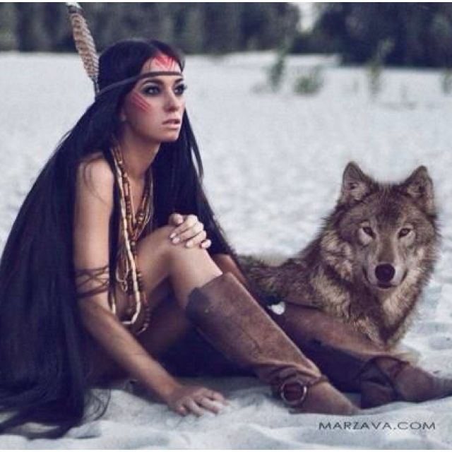 The girl and the wolf #warriorwoman