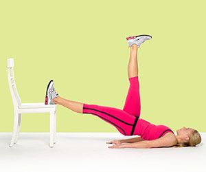 15 Minute Butt Workout. All you need is a non-swivel chair!