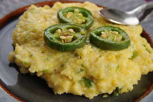 Smoked Gouda Grits with Roasted Jalepenos
