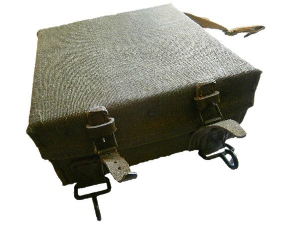 Vintage WWII Italian Army TNT Case military box by ChevaldeGuerre