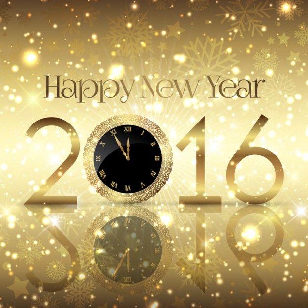 Fondo dorado del Año Nuevo 2016