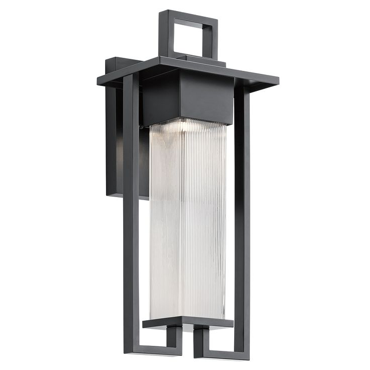 Kichler chlebo 49707 outdoor wall light the kichler chlebo 49707 outdoor wall light produces a stunning bold look for your home with its modern shape