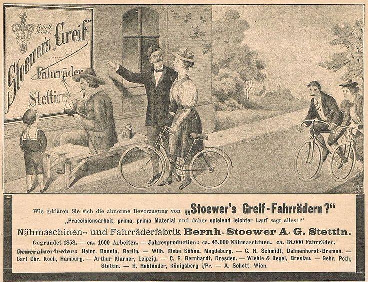 Fahrrad Rad STOEWER Greif Fabrik factory bicycle Stettin Werbung 1897 Reklame (6 | eBay