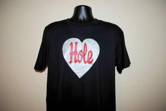 1994 Hole Live Through This Rare Vintage Classic 90's Alternative Rock Grunge Band Courtney Love Glittery Heart Concert Tour T-Shirt