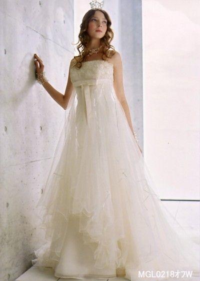 プリンセス♡白のエンパイア ウェディングドレス・花嫁衣装のまとめ一覧♡