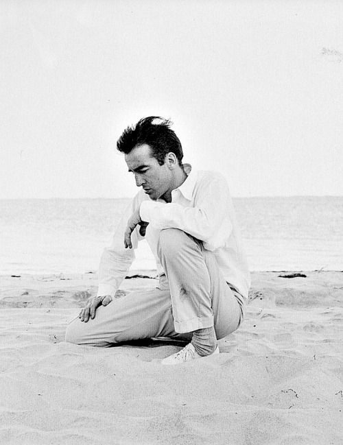 Montgomery Clift in Montauk, New York.  Photographed by Richard Avedon, 1958.
