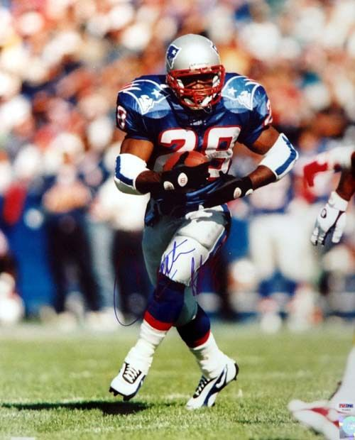 Curtis Martin Autographed 16x20 Photo Patriots PSA/DNA
