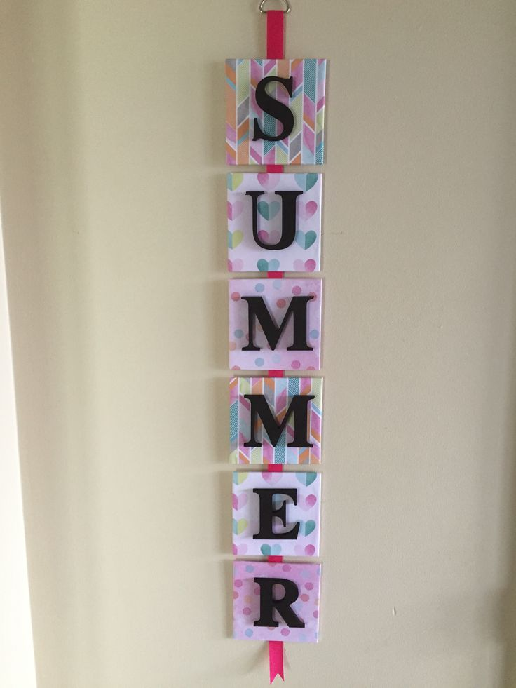 Simple word/ name buy using canvas, scrap paper, ribbon and letters. Endless and simple possibilities. Wear to stop?